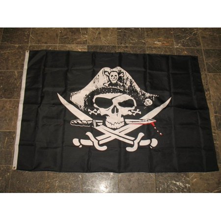 4X6 Deadman Chest Pirate Flag Large Ship Banner Jolly Roger Tricorner Dead Man, Novelty Stores Online By Novelty Stores Online