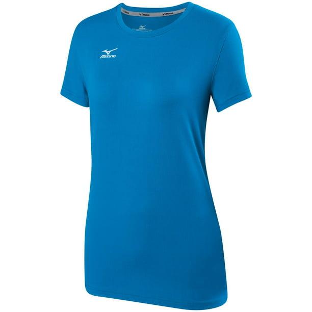 Mizuno Womens Volleyball 2.0 Attack Tee Shirt Diva Blue