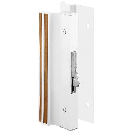 Prime-Line C 1203 Sliding Glass Door Handle Lock, Hook Style, Surface Mount, White, Aluminum ()