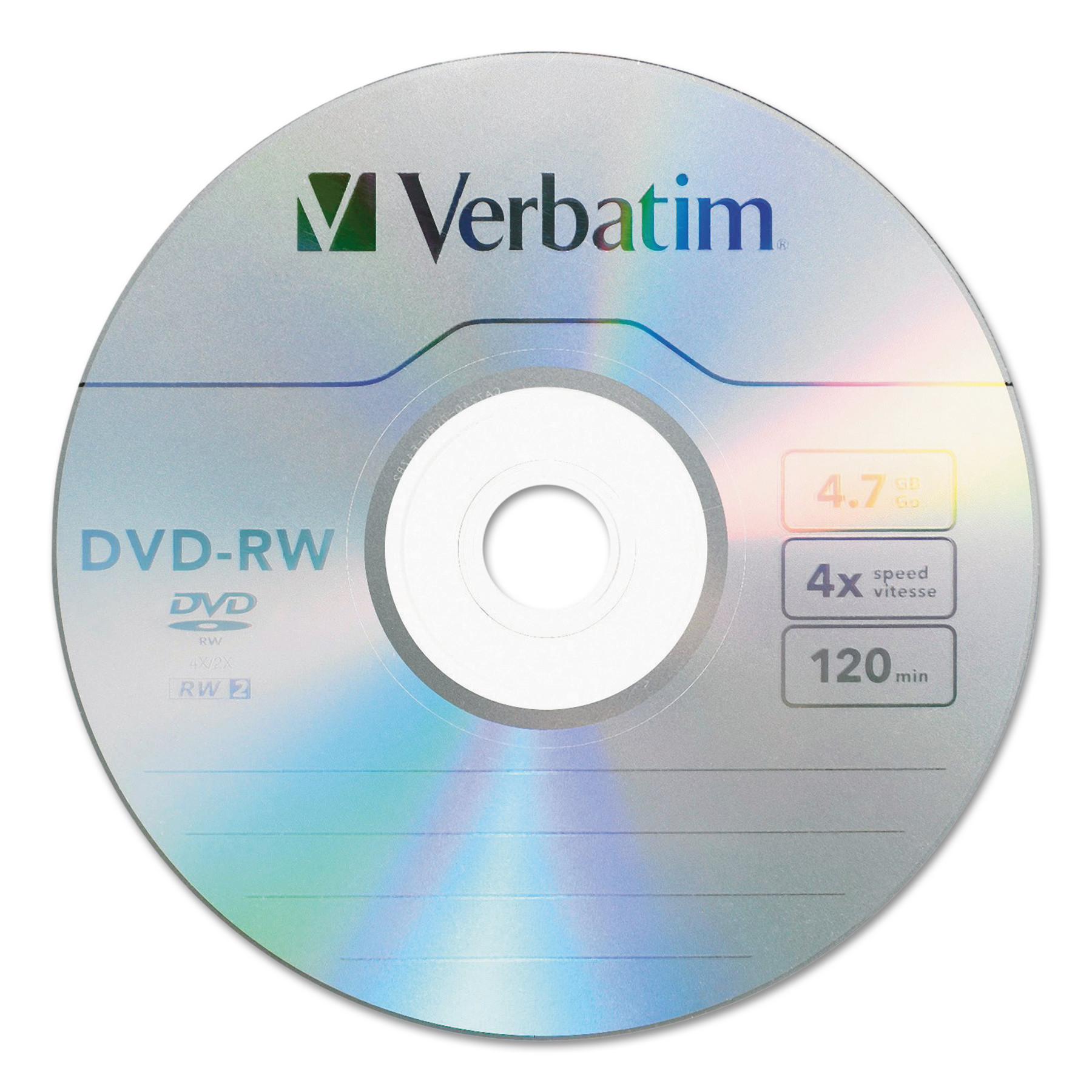 Verbatim DVD-RW 4.7GB 4X with Branded Surface 30-Disc Spindle 95179