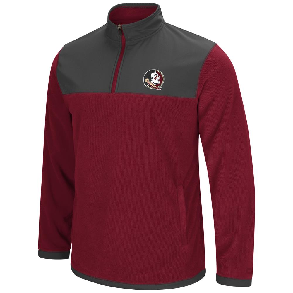 FSU Florida State University Men's Full Zip Fleece Jacket by Colosseum