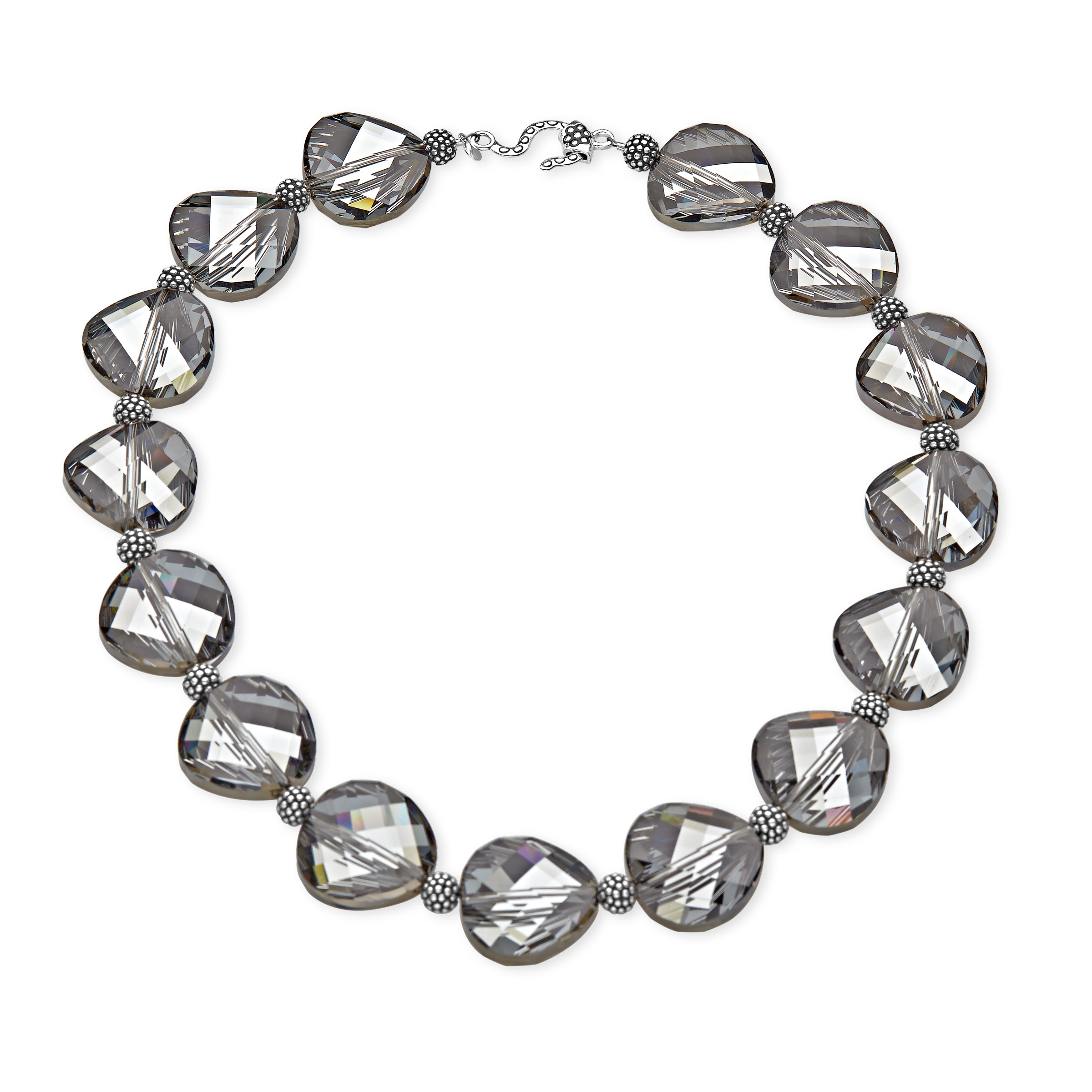 Aya Azrielant Swarovski Crystals Bead Necklace in Sterling Silver