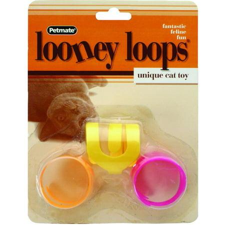 Aspen Pet Looney Loops Cat Toy, 3 Count Aspen Pet Hedgehog Toy