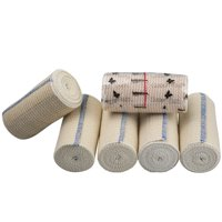 "GT 4"" Cotton Elastic Bandage with Hook & Loop Closure on both ends 4 inches wide x (13 to 15 ft. when stretched), 6 Pack"