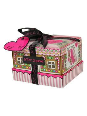Betsey Johnson Ladies 3pk Gingerbread Lady Cozy Sock Box