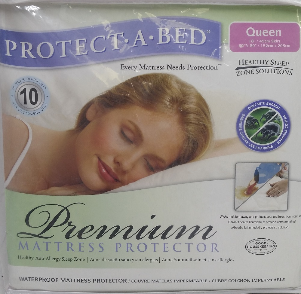 Protect-A-Bed Premium Waterproof Mattress Protector, Queen