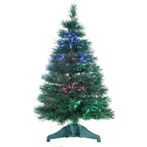 3' LED Lighted Color Changing Fiber Optic Artificial Christmas Tree