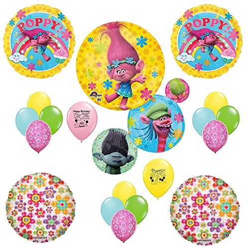 Trolls Party Supplies Poppy Balloon Decoration Kit