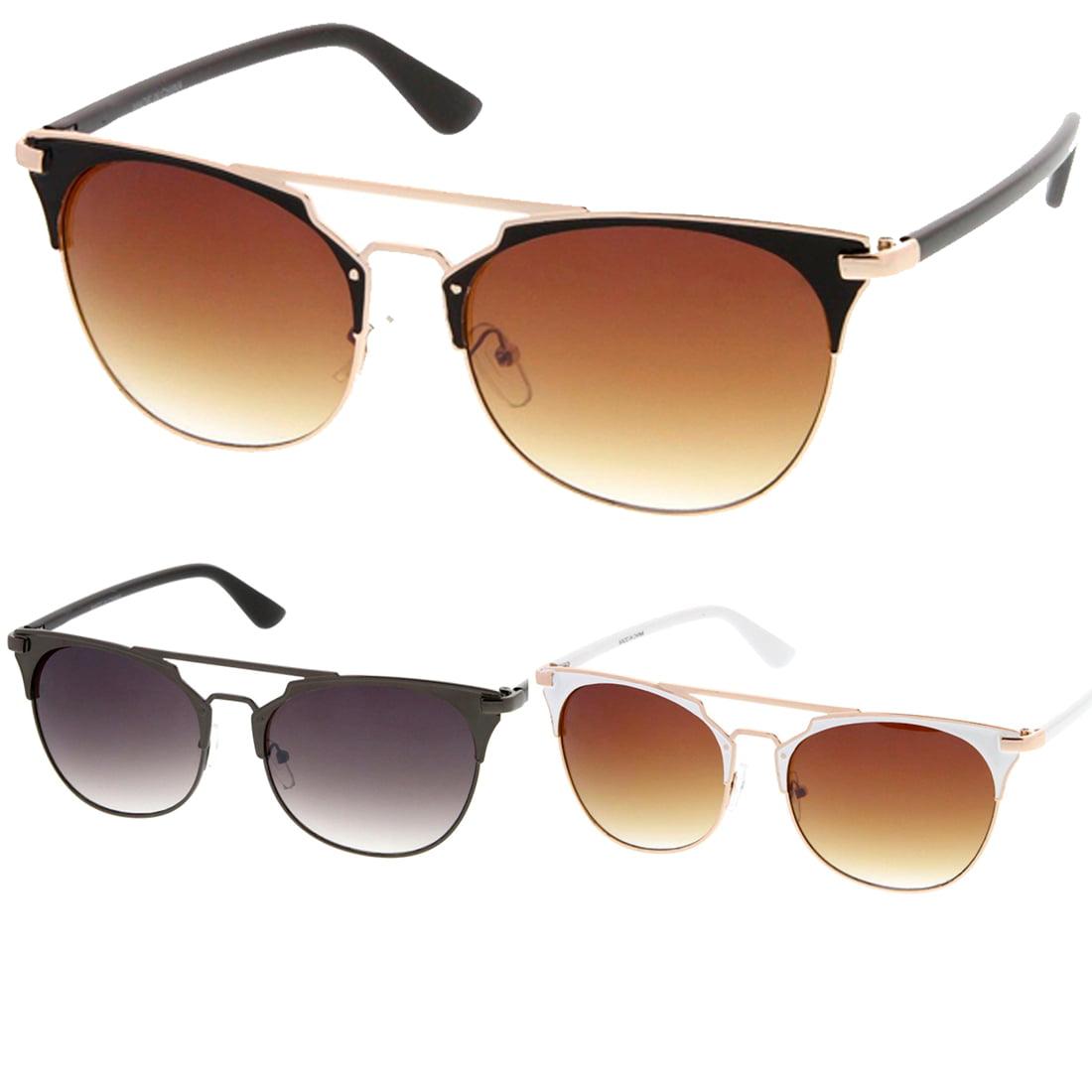 MLC Eyewear Retro Fashion Flat Top Double Wire Women Sunglasses Model S60W3181
