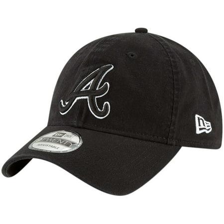 Atlanta Braves New Era Core Classic Twill 9TWENTY Adjustable Hat - Black - OSFA - Atlanta Braves Hats