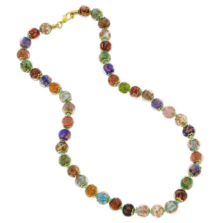 GlassOfVenice Murano Glass Sommerso Necklace - Multicolor