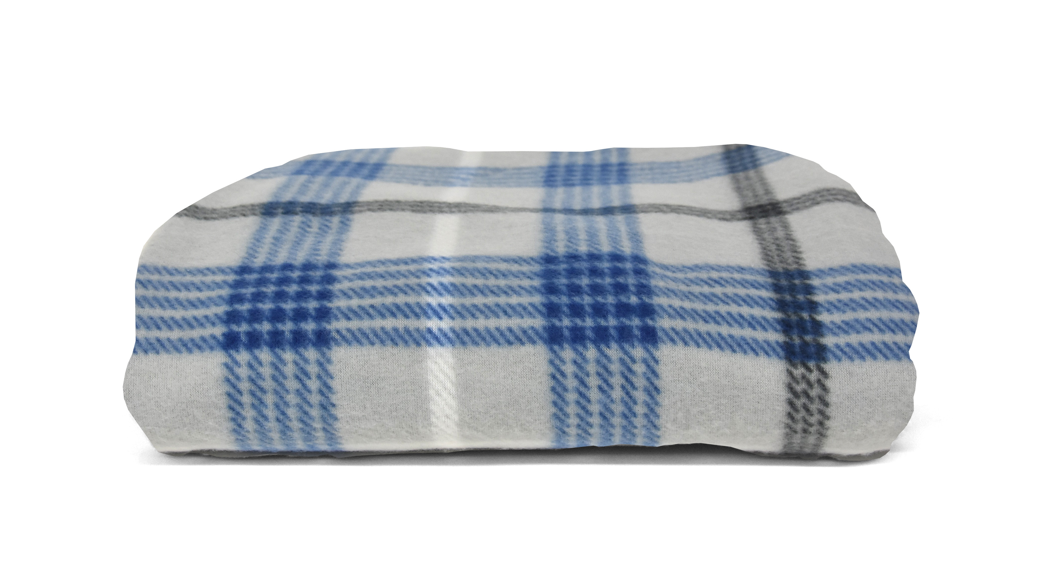 "Mainstays Fleece Plush Throw Blanket, 50"" X 60"", Blue and Gray Plaid - Walmart.com"