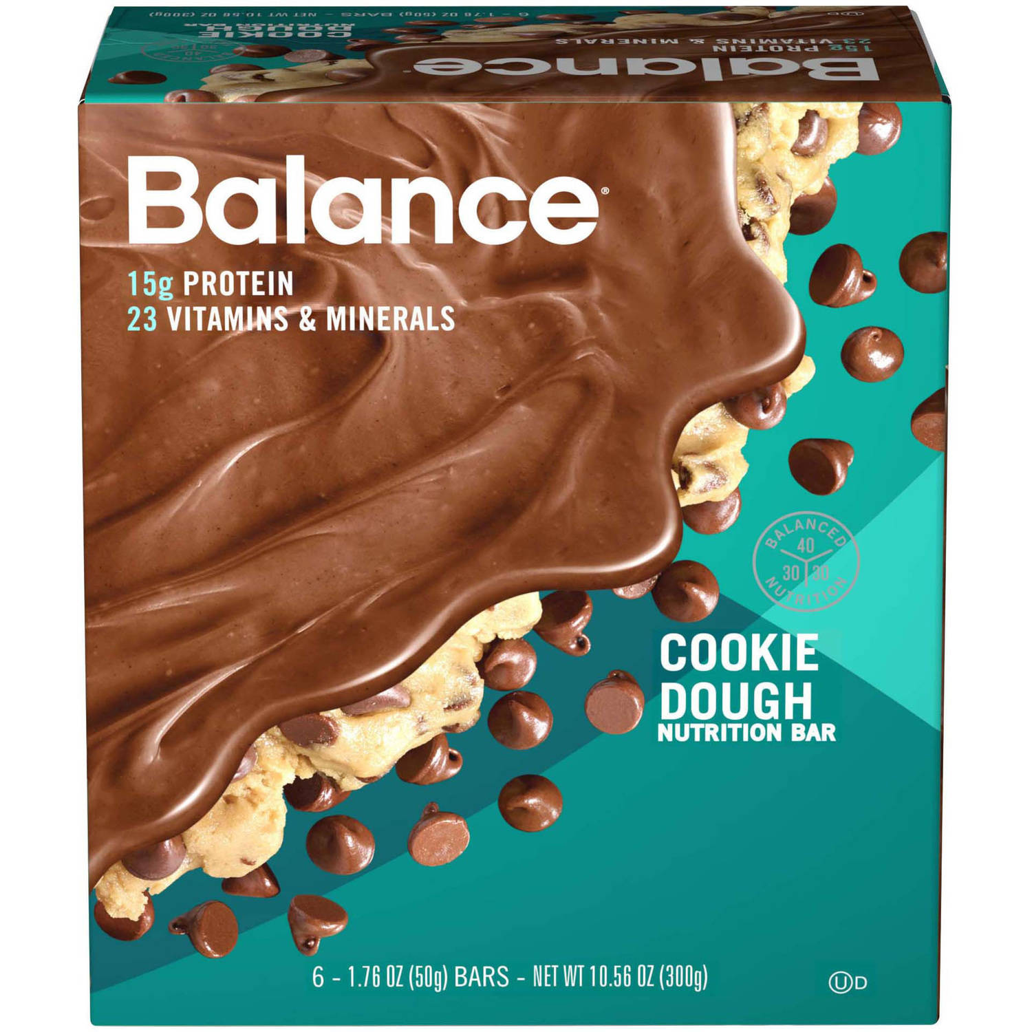 Balance Cookie Dough Nutrition Energy Bar, 1.76 oz, 6 count