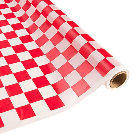 Red and White Checkered Table Roll