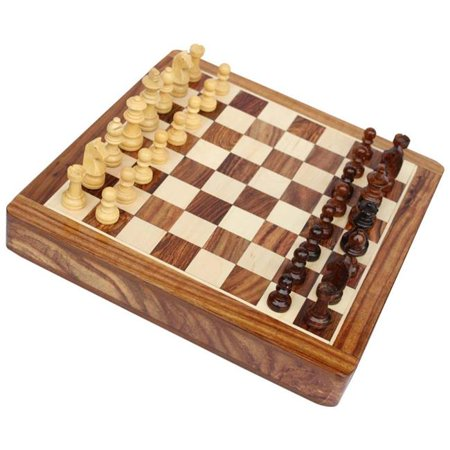 Benzara BM145865 Complete Chess Set for Chess lovers, Brown & Beige