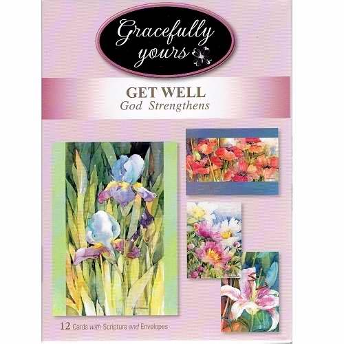 Card-Boxed-Get Well-God Strengthens #125 (Box Of 12)