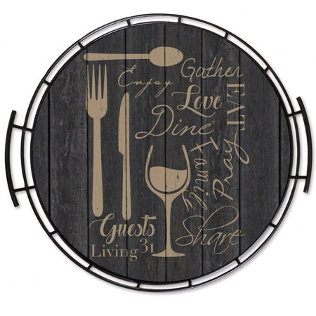 Living 31 wine dine tray 16x16 wall art for Wine and dine wall art