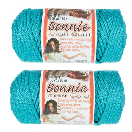 2 Pack Bonnie Macrame Cord - 4mm - 100 yd Lengths - Various