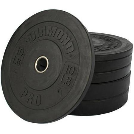 Diamond Pro 160 lb Black Bumper Plate Set