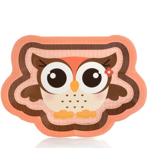 Owl Girl - Party Dinner Plates (8 count)
