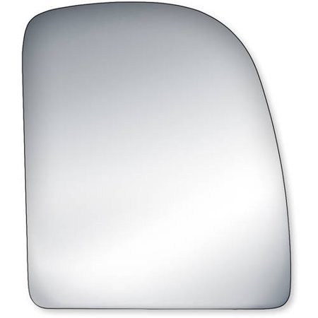 Econoline Mirror Glass (90237 - Fit System Passenger Side Mirror Glass, Ford Econoline 02-14, F250, F350, F450, F550 Super Duty 99-07, Ford Excursion 00-05 (towing mirror top)