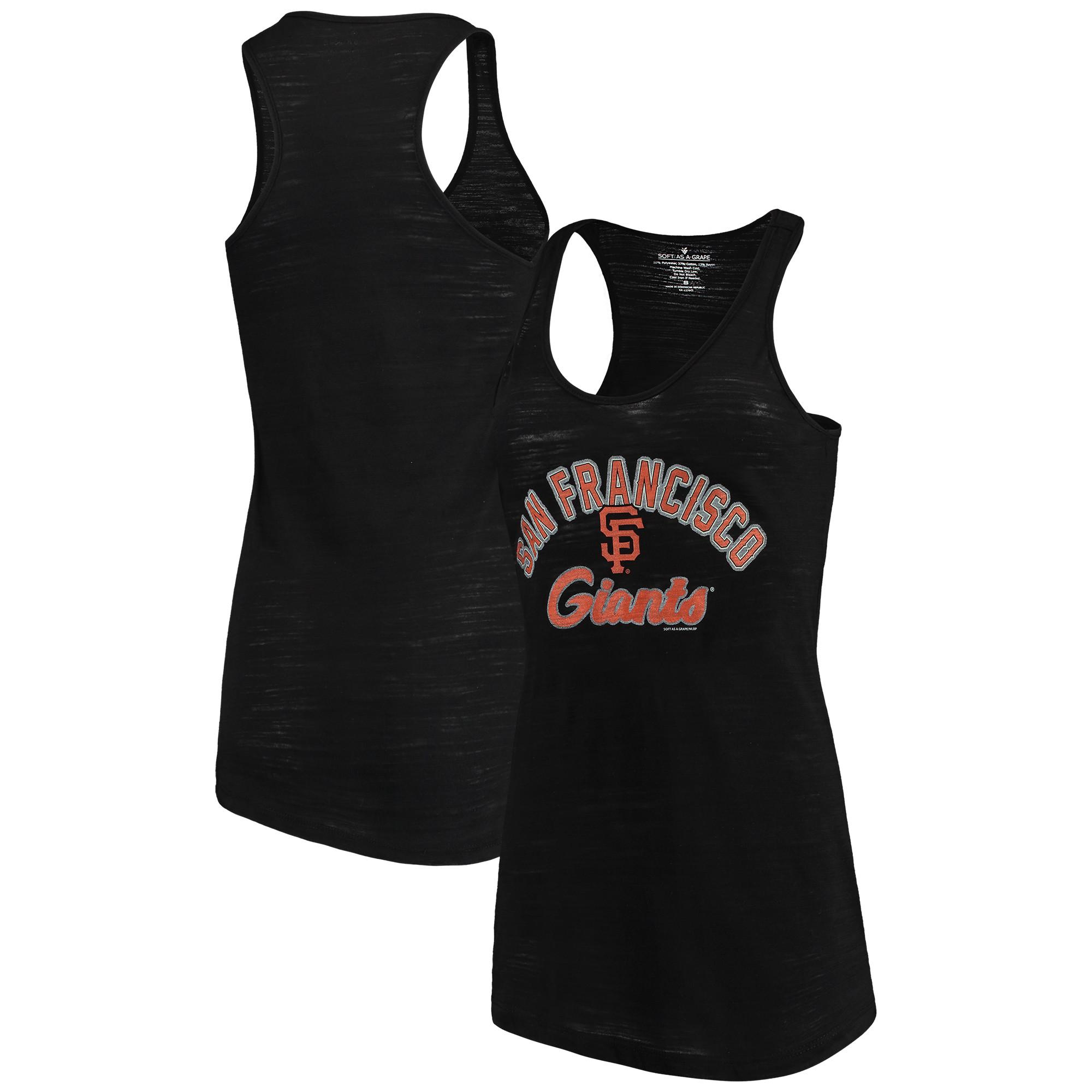 San Francisco Giants Soft as a Grape Women's Multicount Racerback Tank Top - Black