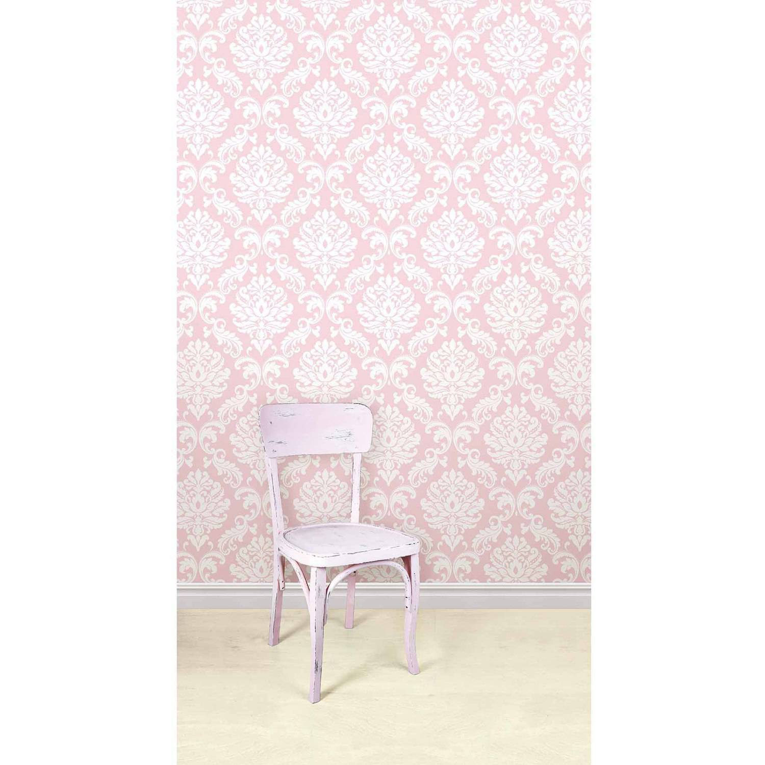 Nuwallpaper Pink Ariel Peel Stick Wallpaper Walmart Com