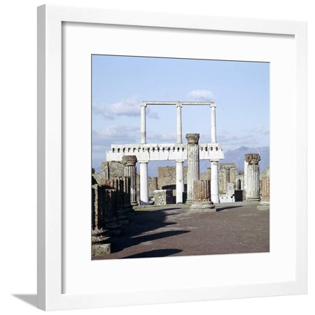 Columns of the Colonnade Round the Forumdanc, Pompeii, Italy Framed Print Wall Art By CM