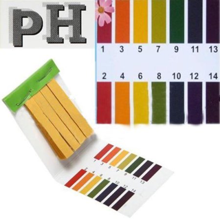 Universal Range 1-14 pH Test Paper Strips Litmus Testing Kit Accurate Application Full Ph 1-14 Test Indicator Litmus Tester for Water Saliva Urine Soil Testing ()