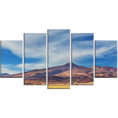 Design Art Bright Argentina Mountain Region 5 Piece Photographic Print On Wrapped Canvas Set