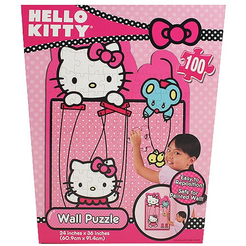 Hello Kitty 100 Piece Repositionable Wall Puzzle Kids Room by Hello Kitty