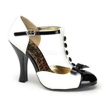 SMITTEN-10, 4'' Heel T-Strap D'orsay Pump Shoes