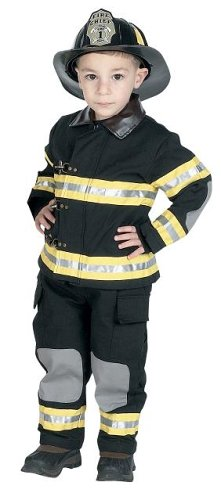 Jr. Fire Fighter Suit with helmet, Size 4 6 by Aeromax