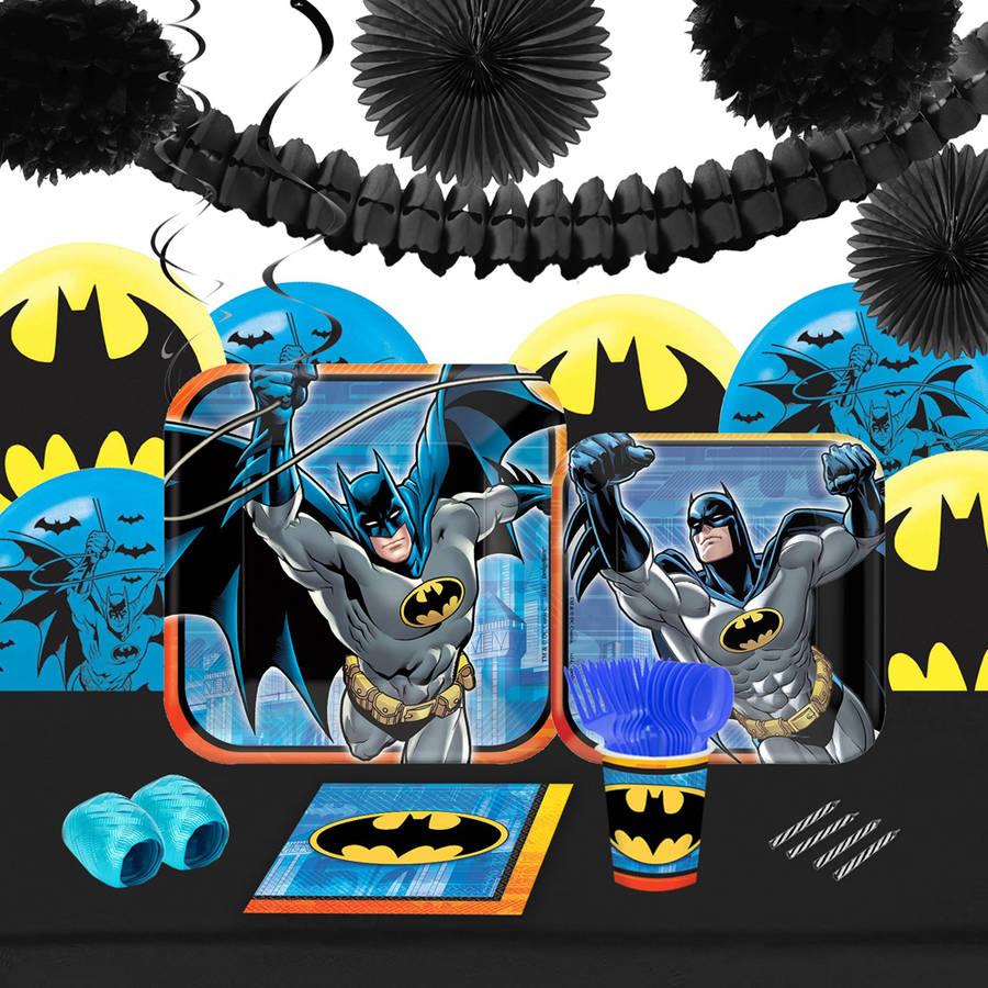 Batman 16-Guest Tableware and Decoration Kit