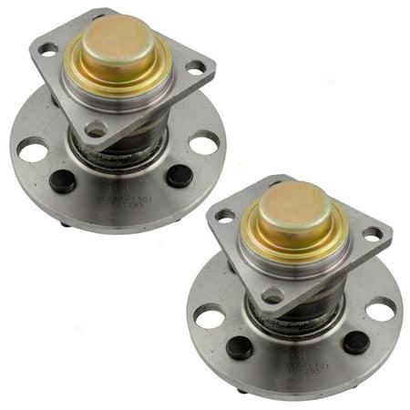 Pair of Rear Wheel Hub Bearings Replacement for Saturn S Series Coupe Sedan & Wagon 21012556