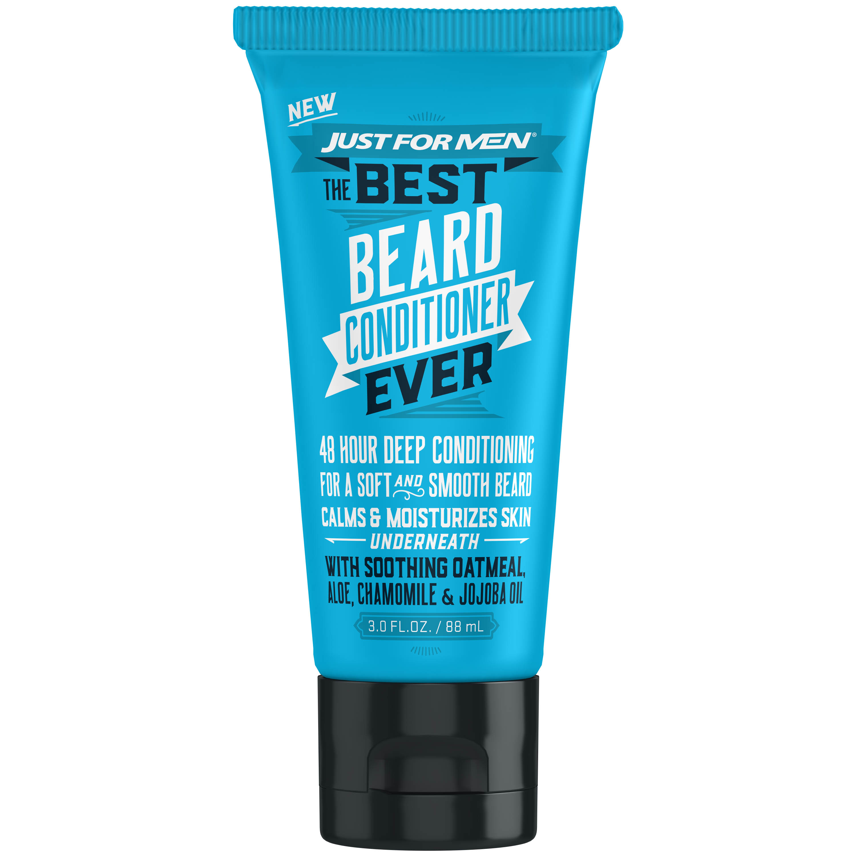 Just For Men, The Best Beard Conditioner Ever, For a Soft and Smooth Beard, 3 Fluid Ounce (88 mL)