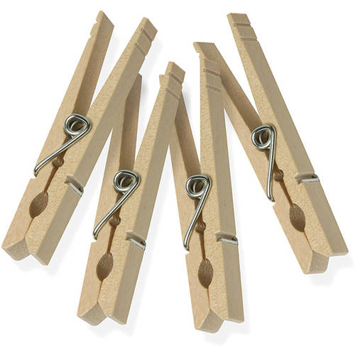 Honey Can Do Wood Clothespins With Spring, 24-Pack