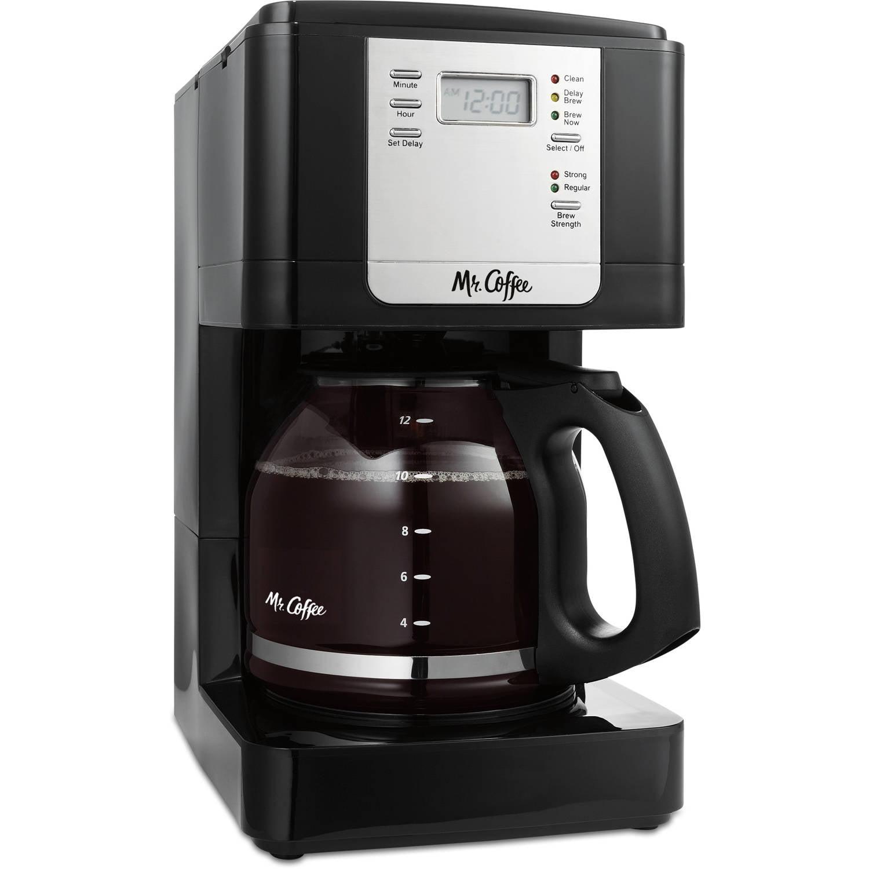 Mr Coffee Advanced Brew 12 Cup Programmable Coffee Maker Black