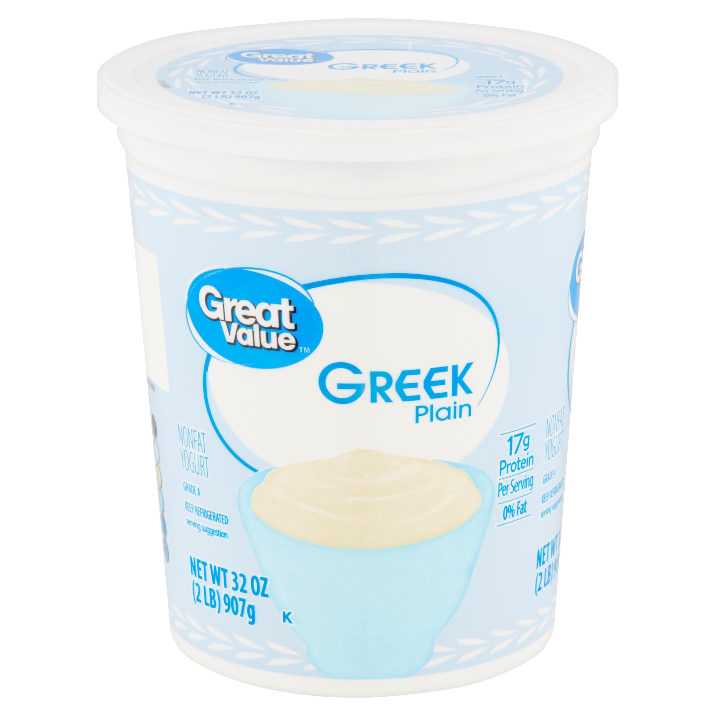 Great Value Greek Plain Nonfat Yogurt