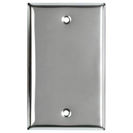 Chrome Plated Steel Tube (83151 1 Gang Blank Steel Wall Plate,)