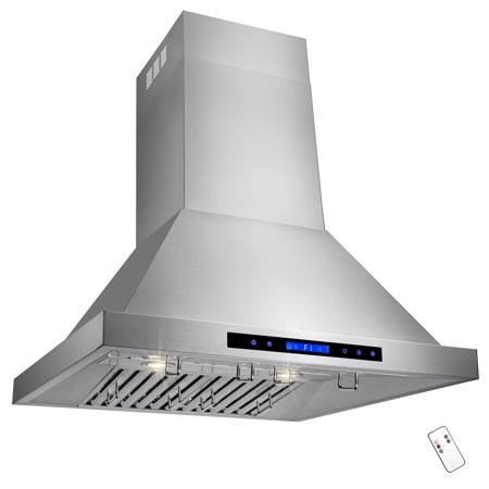 "Image of AKDY 30"" Wall Mount Type Stainless Steel Touch Control Halogen Light Lamp Kitchen Cooking Fan Vent Range Hood"