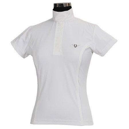 Tuffrider Ladies Show Shirt - tuffrider ladies kirby kwik dry short sleeve show shirt - white w/white - xxx - large