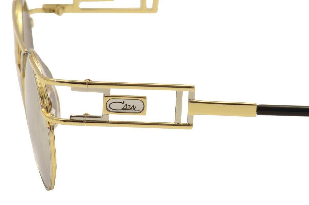 b17aa43f63d CAZAL - Cazal Legends Men s 958 096SG Light Gold Black Retro Round  Sunglasses 46mm - Walmart.com