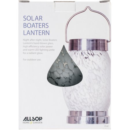 UPC 035286306737 product image for Solar Boaters Lantern, White Oval | upcitemdb.com