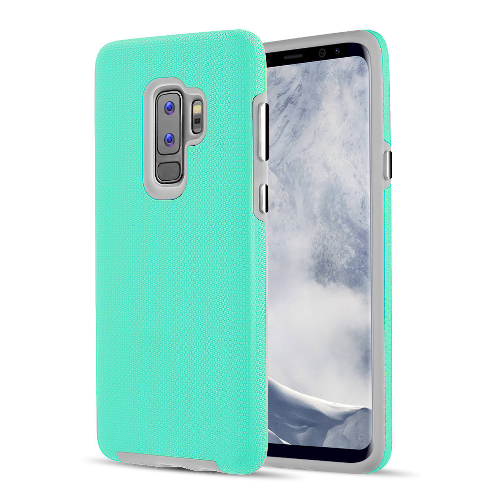 MUNDAZE Teal Mint EZPRESS Double Layered Case For Samsung Galaxy S9 Phone