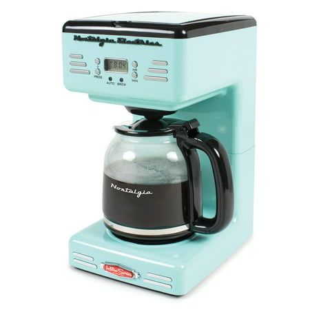 - Nostalgia RCOF120AQ Retro Series 12-Cup Programmable Coffee Maker
