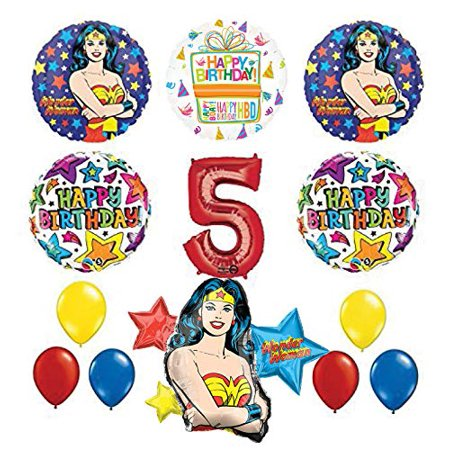 Mayflower Products Wonder Woman 5th Birthday Party Supplies and Balloon Decorations](Wonder Woman Birthday Party Supplies)