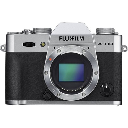 Fujifilm Silver X-T10 Digital SLR Camera with 16.3 Megapixels and 16-50mm Lens Included