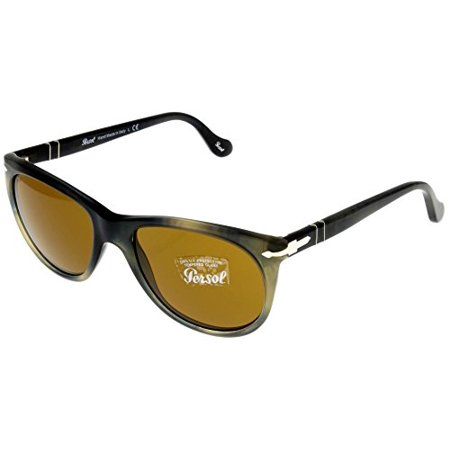 Persol Sunglasses Men Grey Havana Wayfarer 100% UV Protection PO3097S 101733 Size: Lens/ Bridge/ Temple: 53-17-140