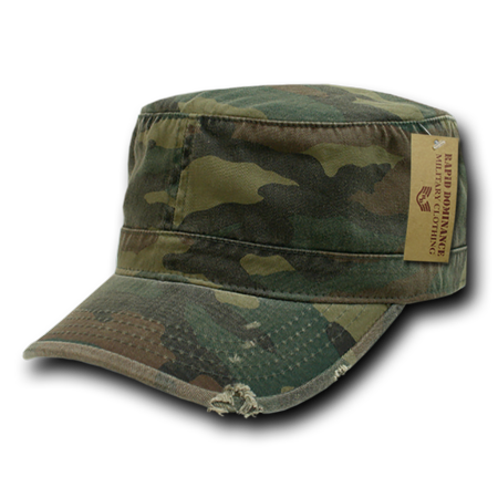 Rapid Dominance Vintage BDU Fatigue Distressed Cadet Patrol Military Fitted Caps Hats (Vintage Military Fatigue Cap)